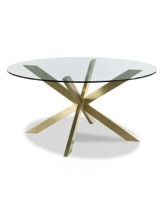 Axelle Dining Table - Base Brass